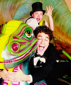 Borat Gotta love Chris' humour.....and Darren's hair