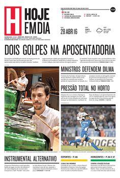 Capa do dia 28/04/2016 #HojeEmDia #Jornal #Notícias #News #Newspaper