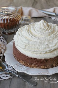 Torta Malu', torta fredda panna e cioccolato