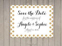 Huwelijksuitnodiging Save the Date  van SophiesLoveBirds op Etsy