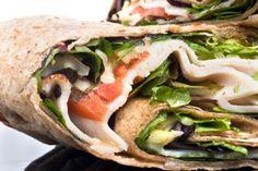 Fuji Apple, Spinach & Turkey Wrap