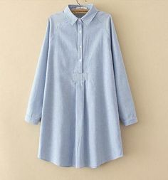 Fall long sleeve shirts blouses female tops 2018 plus size Women Pullovers XXXL Clothing casual loose stripe shirts blusas Winter Dress Outfits, Casual Skirt Outfits, Winter Outfits Women, Cute Blouses, Shirt Blouses, Blouses For Women, Iranian Women Fashion, Ladies Fashion, Women's Fashion