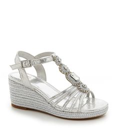 b93af35b9b0 GB Girls Precious-Grl Jeweled Wedge Sandals  Dillards Dillards