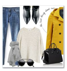 """""""The best thing about  me"""" by andreastoessel ❤ liked on Polyvore featuring Maison Scotch, MANGO, Kim Kwang and Givenchy"""