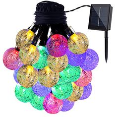 GDEALER Solar String Lights 20ft 30 LED Crystal Ball Waterproof Outdoor String Lights Solar Powered Globe Fairy String Lights for Outside Garden Yard Home Landscape Party *** To view further for this item, visit the image link.