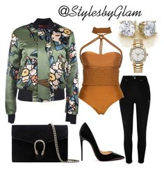 """""""City Life"""" by stylesbyglam on Polyvore featuring Dsquared2, River Island, Lenny, Christian Louboutin, Gucci and Rolex"""