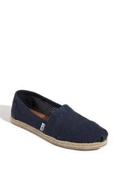 TOMS 'Freetown - Classic' Espadrille Slip-On (Women) in Navy available at Nordstrom $53.95 Size 7.5 LOVE these TOMS & I don't have navy blue!