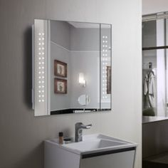 Bathroom medicine cabinet mirror bedroom furniture pinterest lighted bathroom mirrors with shaver socket aloadofball Images