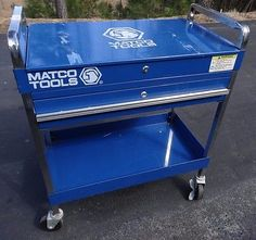 MATCO Tools BLUE Rolling Tool Box Service Cart with Wheels #Motors #Automotive #Tools #Supplies #Service Cart