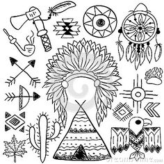 native american cherokee headdress linedrawing - Google Search