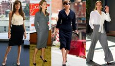 We Are Obsessed With Angelina Jolie's Workwear Wardrobe via @fashionstylemag