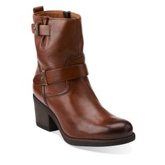 Mojita Sorbet in Cognac Leather - Womens Boots from Clarks