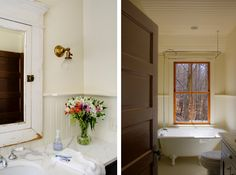 New build farmhouse by Marcus di Pietro, country style bathrooms | Remodelista