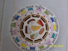 Hand Painted Ceramic Round Cake plate.  Janet Eddi Cape Town.  info@medesign.co.za Hand Painted Cakes, Hand Painted Ceramics, Pavlova, Pottery Painting, Painted Pottery, Paint Your Own Pottery, School Auction, Ceramics Projects, Store Displays