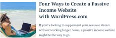 If you're looking to supplement your revenue stream without working longer hours, a passive income website might be the way to go. What Is Passive Income, Earning Money, Movies To Watch, How To Make Money, Wordpress, Sleep, Concept, Website, Create