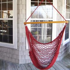 Sling Shot Swing by DFOhome. Unbelievably comfortable. #porchswing