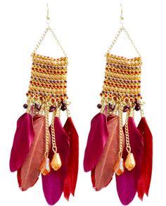 https://www.goedkopesieraden.net/Oorbellen-gevlochten-hangers-met-veren-in-het-paars,-rood-en-roze
