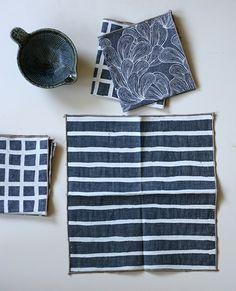 52 Weeks of Printmaking: Week 47 by Jen Hewett. One-color screenprint on cotton.