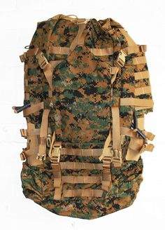 USMC Field Pack, MARPAT Main Pack, Woodland Digital Camouflage, Spare Part, Component of Improved Load Bearing Equipment (ILBE) > If you love this, read review now : Best hiking backpack