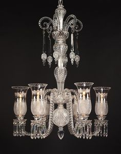 AN IMPORTANT MID VICTORIAN  CUT GLASS CHANDELIER BY F & C OSLER
