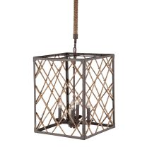 Check out the Zuo 98334 Shale 4 Light Ceiling Lamp in Distressed Brown Natural Industrial Lighting, Modern Lighting, Pendant Lighting, Light Pendant, Ceiling Lamp, Ceiling Lights, Event Lighting, Joss And Main, Rustic Charm