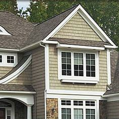 Vinyl Siding Colors Houses | Vinyl siding comes in a wide variety of styles and colors. Call us for ...