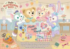 Tokyo Disney Resort Anniversary Grand Finale, Pixar Playtime, and Duffy Heartwarming Days is on from January 11 through March Disney Dream, Cute Disney, Disney Magic, Disney Mickey, Tokyo Disney Sea, Tokyo Disney Resort, Bear Wallpaper, Friends Wallpaper, Sanrio