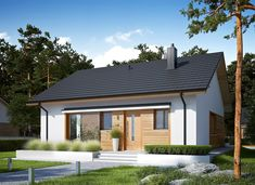 proiecte de case fara etaj cu 2 dormitoare Two bedroom single story house plans 9 Modern Bungalow, Architecture Design, House Plans, Loft, Farmhouse, Outdoor Decor, Gazebo, Home Decor, Houses