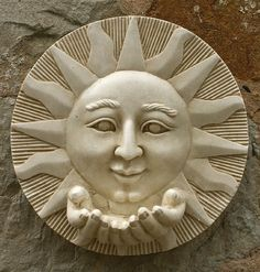 Garden Wall Plaques : Sun & Moon Wall Plaques : Sun Wall Plaque with Hands