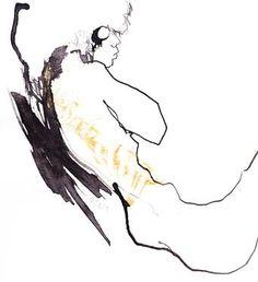 "Saatchi Art Artist Corine Pagny; Drawing, ""angel"" #art"