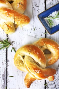 Rosemary Sea Salt Pretzels with Rosemary Cheddar Cheese Sauce | Recipe ...
