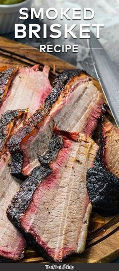the Art of Whole Smoked Brisket Dive into the wonders of barbecue with your very own smoked brisket.Dive into the wonders of barbecue with your very own smoked brisket. Smoked Meat Recipes, Grilling Recipes, Beef Recipes, Recipies, Traeger Smoker Recipes, Grilling Tips, Healthy Grilling, Picnic Recipes, Spinach Recipes