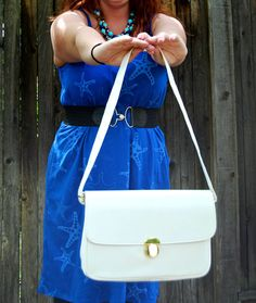 White Leather Purse by ParkerJCO on Etsy, $8.00