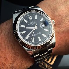 A Timeless Timepiece The #Rolex #DateJust in #Stainless Enquire on WhatsApp 44 7921 338836