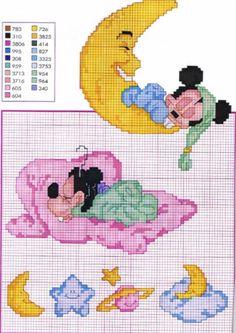 Cross stitch chart DOCCE APRILE 2 i grafici Anatre /& CONIGLI grafici