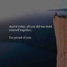 Positive Quotes : QUOTATION – Image : Quotes Of the day – Description and if today all you did was hold yourself together. Sharing is Power – Don't forget to share this quote ! Sad Quotes, Great Quotes, Words Quotes, Quotes To Live By, Motivational Quotes, Life Quotes, Inspirational Quotes, Sayings, Rough Day Quotes