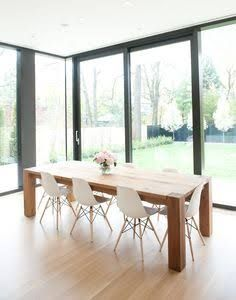table to suit eames eiffel tower chairs - Google Search