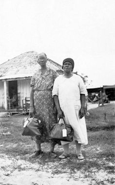 AFRICAN AMERICAN MIDWIVES | Two African American midwives, Leon County, Florida, circa 1944.