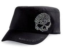 Harley Davidson Women's Crystal Skull Hat <3