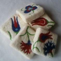 İznik çini keçe sabun felt soap