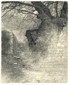 ArtPropelled | iamjapanese: Livio Ceschin(Italian, b.1962) ...etching and drypoint