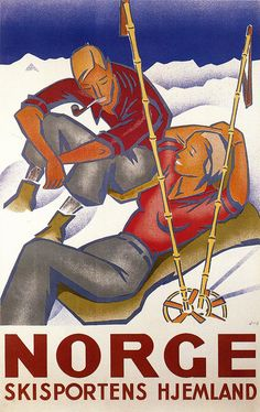 Beautiful Aspen City of Pitkin County Colorado Couple Enjoying SUN Skiing Ski Winter Sport X Image Size Vintage Poster Reproduction Vintage Ski Posters, Retro Poster, Travel Ads, Travel Photos, Snow Skiing, Vintage Advertisements, Illustrations Posters, Oslo, Homeland