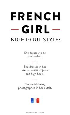 Night-Out Dressing: French Girls vs. American Girls via @WhoWhatWear