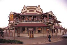 Metropole Hotel, Boulder, Western Australia. Established 1899. Built over an old mine shaft.