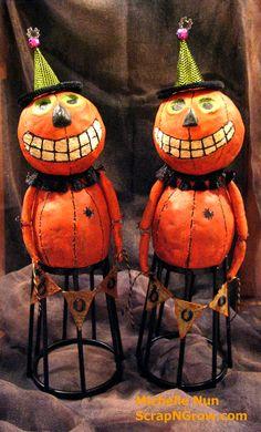 My Pumpkin Santos Cage Dolls. Online Class Pumpkins & Cider with Christy Tomlinson