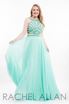Rachel ALLAN Curves ~ This amazing mint color is perfect for spring and prom!