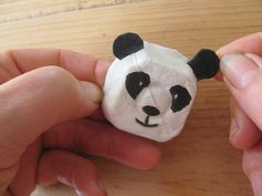 Peter Panda is made from painted egg carton bits, and that's about it - apart from his little bamboo! Egg Carton Art, Egg Carton Crafts, Egg Crafts, Glue Crafts, Book Crafts, Paper Crafts, Egg Cartons, Craft Activities For Kids, Projects For Kids