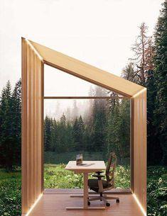 Backyard Office, Modern Backyard, Backyard Landscaping, Zen Design, Glass Design, Workspace Design, Home Office Design, Contemporary Design, Modern Design