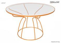 "Tisch ""Bella"" 2014/ 15  Design: SVEN DOGS 2014, www.svendogs.com Manufacturer: www.formvorrat.net Outdoor Furniture, Outdoor Decor, Stool, Table, Design, Dogs, Home Decor, Decoration Home, Room Decor"