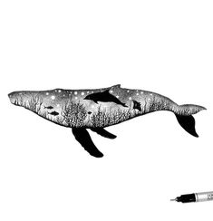Silhouette containing content Dotted Drawings, Abstract Drawings, Animal Drawings, Ocean Tattoos, Shark Tattoos, Tatoos, Tattoo Drawings, Art Drawings, Stippling Art